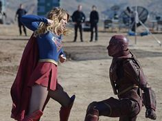 Supergirl vs Red Tornado