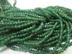 3.50 mm  NATURAL Green AVENTURINE Micro Faceted Roundel Beads Gemstone.... special offer bag order discount lot (10 strand)