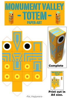 Make your own totem from Monument Valley!