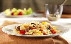 Barilla Mini Farfalle with Sausage, Peppers & Pecorino Cheese