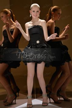 Sheath/Column Crystal Floral Pin Pick-Ups Short/Mini Sweet Sixteen Dress#women dresses#tbdress reviews#short dresses#