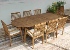 SALE Ocean 95in Oval Table Oceanic Teak Furniture