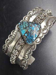 Navajo Made Sterling Silver Bisbee Bracelet B8