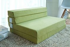 Merax 4 Inch Memory Foam Folding Mattress and Sofa Guest Sofa Z Bed Sleeping Mattress (Full)