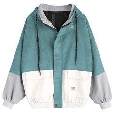 Winter Coats Women, Coats For Women, Jackets For Women, Jackets For Teenage Girl, Hijab Outfit, Looks Style, Looks Cool, Vintage Windbreaker Jacket, Corduroy Jacket
