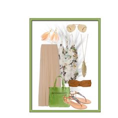 """""""summer maxi skirt outfit :D"""" by tiffany-pal on Polyvore"""