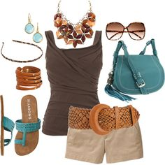 love the necklace, purse, tank and shoes
