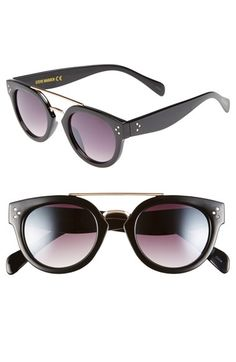 Steve Madden 48mm Metal Brow Bar Round Sunglasses available at #Nordstrom #southbaygalleria