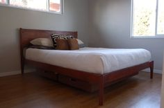 Mid Century Danish Modern Style Storage Bed by PeteDeebleFurniture, $2700.00