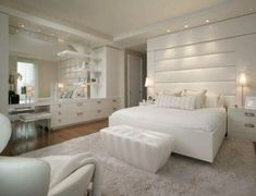 All White Bedroom, how romantic!
