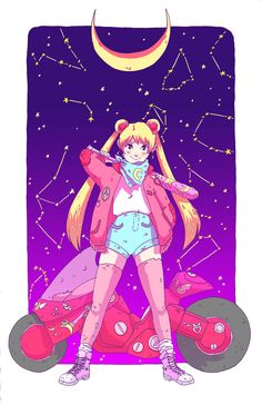 """cancermonty: """" Sailor Moon print for Anime North! :0 """""""
