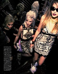MIKE KAGEE FASHION BLOG: PARTY DOLLS AN EDITORIAL BY VOGUE JAPAN LATEST ISSUE PHOTOGRAPHED BY ELLEN VON UNWERTH