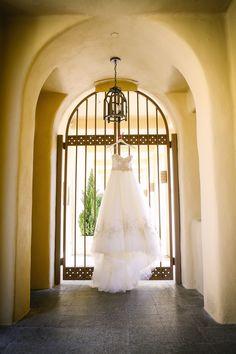 Dramatic ballgown dress!!  View the full wedding here: http://thedailywedding.com/2015/11/23/country-club-wedding-jacqueline-derek/