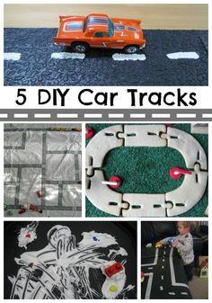 5 DIY Car tracks. These cool ideas make playing with toy cars even more fun!