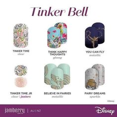 Nails design disney tinkerbell Ideas for 2019 Jamberry Disney, Disney Nails, Disney Makeup, French Nail Designs, Cute Nail Designs, Jamberry Australia, Disney Inspired Nails, Foot Pedicure, Ring Finger Nails
