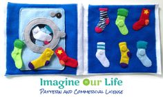 Sock Matching Quiet Book Page Pattern with Commercial License from Imagine Our Life on Etsy, $20.00