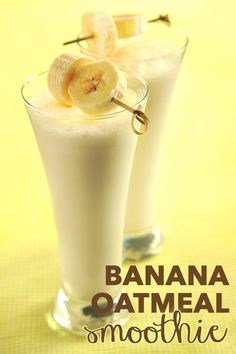 Straight up going bananas over this amaze banana oatmeal smoothie recipe! #BTSZingSpiration