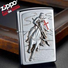 Europe Zippo Chrome God Wills It Emblem Lighter