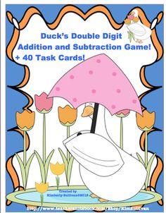 Spring Addition and Subtraction Game and 40 Math Task Cards! Early Finishers and Centers! from Kimberly Sullivan on TeachersNotebook.com - (19 pages) - This product has a a math game and 40 task cards to review addition and subtraction! Great for your early finishers, homeschool, small groups, centers, whole class, and individualized instruction.