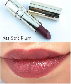 "Clarins Joli Rouge Moisturizing Long-Wearing Lipstick in ""744 Soft Plum"""