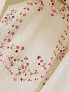 Embroidery On Kurtis, Kurti Embroidery Design, Embroidery On Clothes, Embroidery Patterns, Machine Embroidery, Casual Shirts, Ready To Wear, Suits, How To Wear