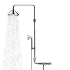 The minimalism of plumbing Inspired by plumbing pipes, the Axor Shower Products, designed by Swedish firm Front, accompanied by an installa.