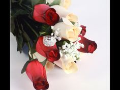 Red & White Wax Roses