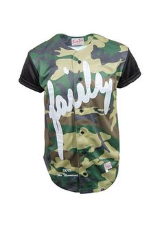 Siksilk camo basball jersey   With Camouflage print and bright white embroidery on the front, this is a true eye catching garment.   The fairly on the front is fully embroidered in bright white, the sleeves are black with black under sleeve to show consistency in colour if you decide to roll them up.  £75.00 available from www.dapperstreet.co.uk