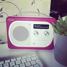 Thanks @pure_insider for letting us test out this beaut digital radio. Featuring Melvin our office succulent.