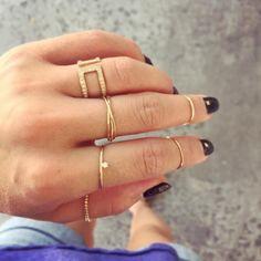 Dainty diamond rings with Greek diamond half eternity ring✨ #diamond #daintyjewelry #ring #goldring #14kring #enverojewelry