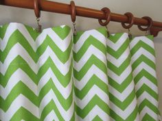 Pair+of+50+wide+chevron+zig+zag+lime+chartreuse/white+by+LivePlush,+$100.00