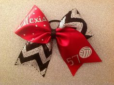 Volleyball Bow.                                             Except with my name and number on it in the same colors!!!