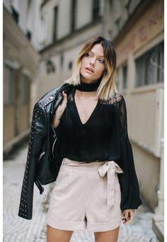 Caroline Receveur Black Lace Insert Blouse - Missguided