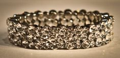 Silver Crystal Large Stone Bracelet. Perfectly set to sparkle and shine with delicate elegance.www.yorkpromenade.com