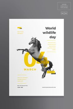 Print Pack World Wildlife, # Affiliate, # Flyer # pIFzbB # Poster # - - Text Poster, Poster Art, Poster Layout, Poster Poster, Layout Design, Flugblatt Design, Print Design, Design Cars, Graphic Design Posters