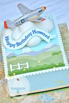 Plastic Airplane Cake Topper