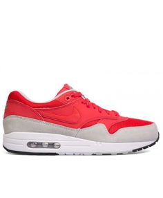 newest af00b aa488 Air Max 1 Essential Daring Red, Daring Red-Gry Mist 537383-600