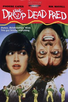 When Elizabeth Cronin (Phoebe Cates) comes to stay with her overbearing mother (after her husband leaves her for a younger woman), she rediscovers her wacky imaginary childhood friend, Drop Dead Fred (Rik Mayall). Drop Dead Fred and Elizabeth have a Marsha Mason, Phoebe Cates, Carrie Fisher, Drop Dead Fred Movie, Love Movie, Movie Tv, Movie List, Crazy Movie, Teen Movies