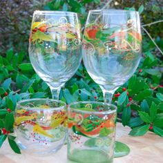 Golden Branch Stemware. Perfect for Christmas or other celebrations.