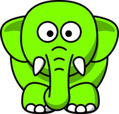 Sito utile per clipart - Lime Green Elephant clip art - vector clip art online, royalty free & public domain