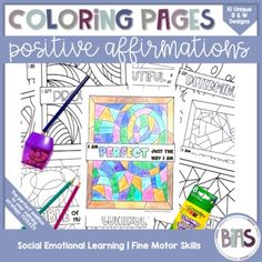 Social-emotional learning is important for all children. Help students practice using their positive affirmations in a fun, engaging way. Coloring is a great way to introduce a new concept, take a brain break, or reward a job well done. Product Information:This resource contains 10 coloring pages in...