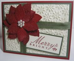 French Foliage Poinsettia by Angie Leach - Cards and Paper Crafts at Splitcoaststampers