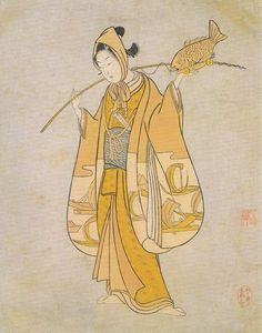 Title:見立恵比寿 Parody of Ebisu Artist:鈴木春信 Suzuki Harunobu