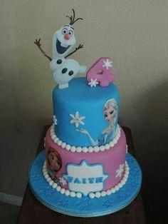 Frozen Cake Frozen Birthday Cake, Frozen Theme Party, Anna Frozen Cake, Party Themes, Cakes, Desserts, Food, Tailgate Desserts, Deserts
