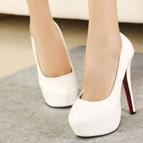 New Arrival Stiletto Heels Solid Color Platform Shoes
