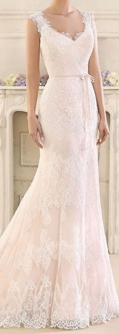 bBlash Lace Wedding Dress by Fara Sposa 2017