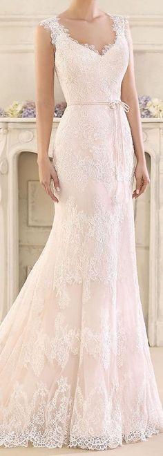 bBlash Lace Wedding Dress by Fara Sposa 2017