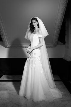 Daisy, High Low Gown, Viktor Rolf, Mermaid Gown, Bridal Looks, Elie Saab, Bridal Collection, Yorkie, One Shoulder Wedding Dress