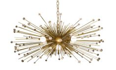 5Bulb Crystal Beaded Urchin Chandelier by Stimulight on Etsy, $529.00