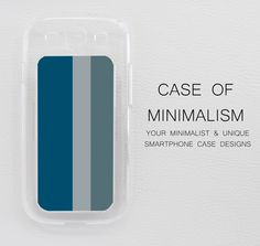 Samsung Galaxy S3 Case Skin Cover Minimal Pastel in a Clear Case